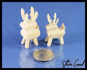Scrollsaw Workshop: Minature 3D reindeer scroll saw