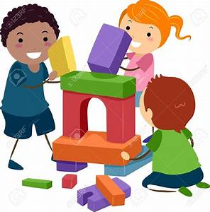 Playing clipart Playing Blocks Clipart - Pencil and in ...