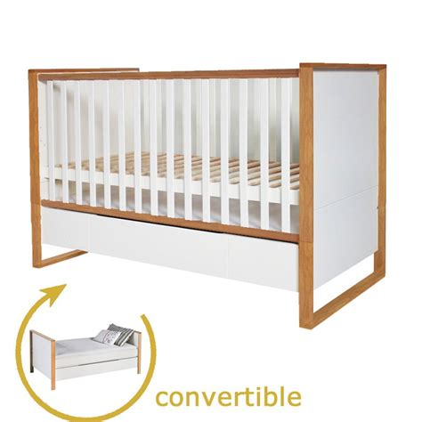 Natura Scandinavian Cot Bed  Junior Bed With Drawer