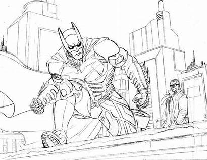 Coloring Knight Batman Dark Fortnite Spider Getdrawings