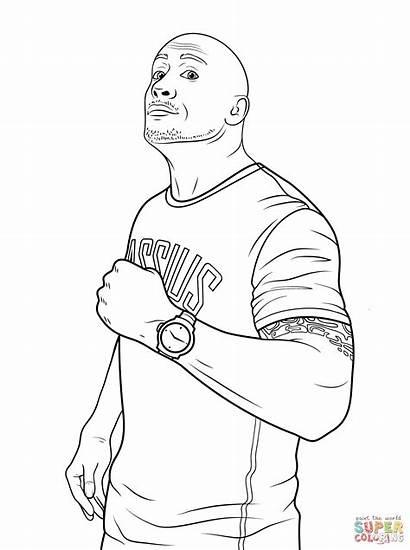 Wwe Rock Dwayne Johnson Ausmalbilder Coloring Zum