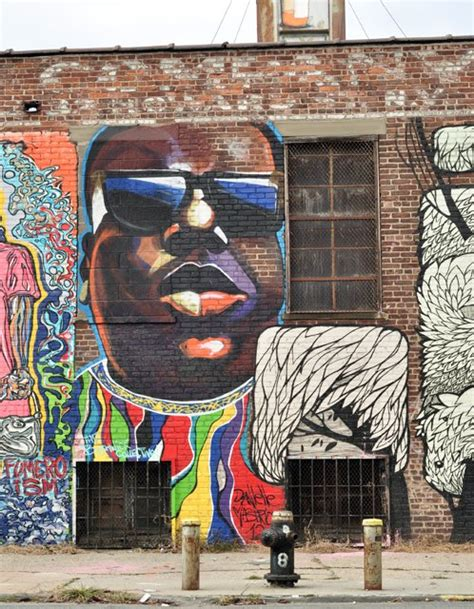 notorious b i g mural about to be destroyed bed stuy
