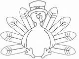 Coloring Feather Turkey Template Featherless Clip sketch template