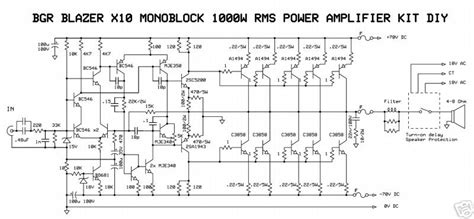 Schematic Wiring Diagram Watt Audio Power Amplifier