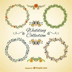 Wedding floral frames Vector   Free Download