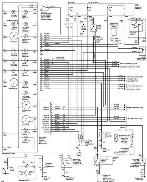 1997 Ford Contour Wiring Diagram ford contour 1997 instrument cluster wiring diagram all
