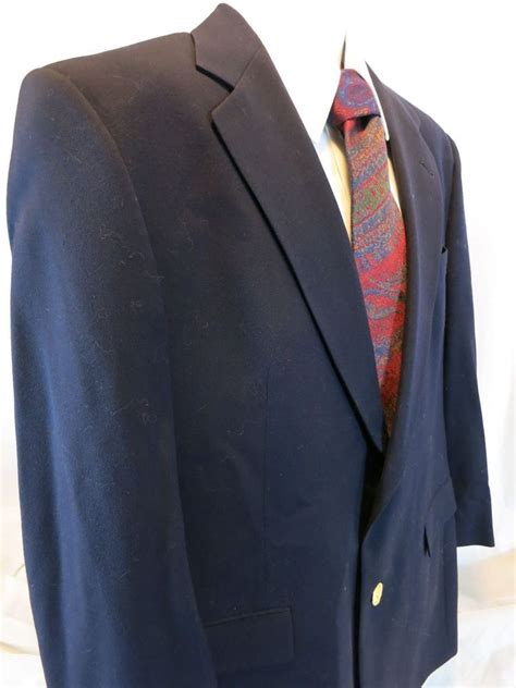 austin reed gold buttons navy worsted wool men blazer