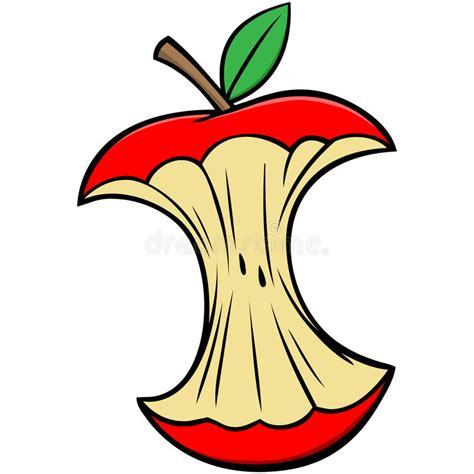 Cartoon Apple Core stock vector. Illustration of mascot ...