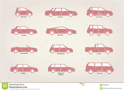 Car Body Types Stock Vector. Illustration Of Class, Sedan