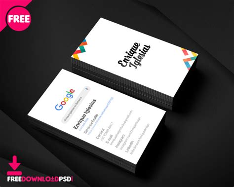personal  bussiness card template freedownloadpsdcom