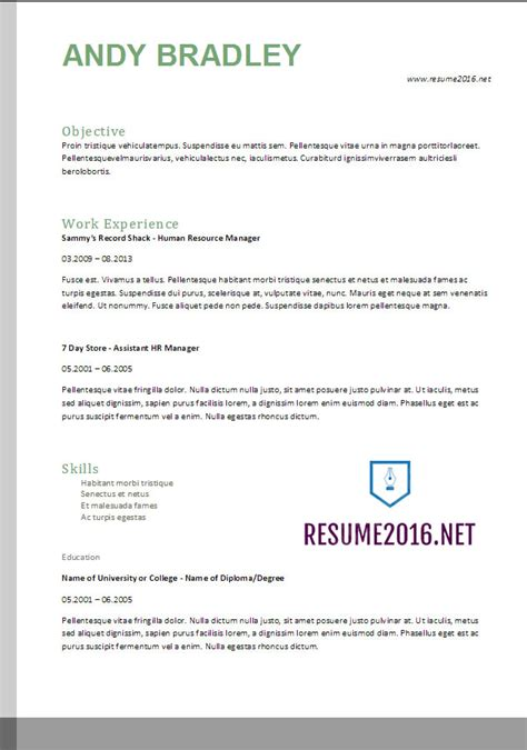 Us Resume Format 2017 by Resume Format 2017 20 Free Word Templates