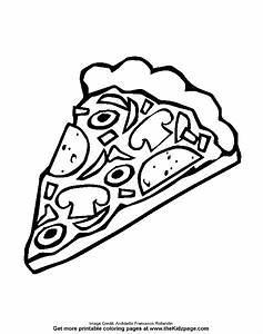 Cheese Pizza Coloring Page