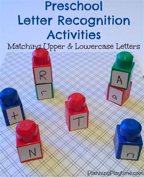 Preschool Letter Recognition Activities  Upper And Lowercase Letters, Bags And Graphics