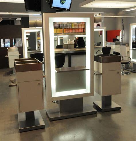 salon styling mirrors illuminated mirror salon furniture
