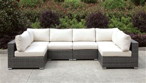 somani cm os2128 6 outdoor patio u shaped sectional sofa