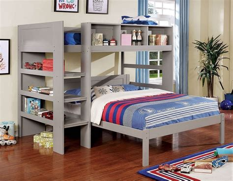 annemarie customizable loft bed gray  furniture