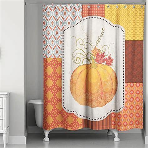 Autumn Pumpkin Shower Curtain   Bed Bath & Beyond