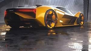 2019 Lamborghini Terzo Millennio Rear, HD Cars, 4k