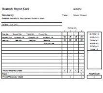 homeschool transcripts  report card templates