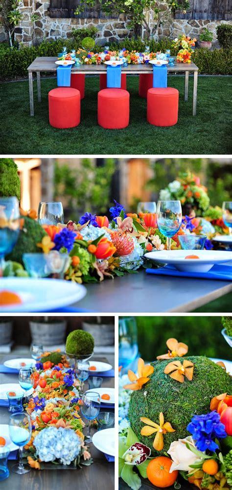 a modern orange and blue wedding wedding stuff ideas