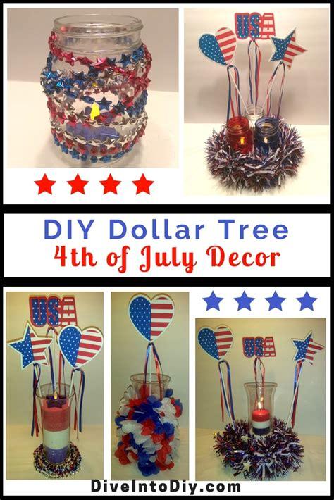 Diy Dollar Tree 4th Of July Decor  Dive Into Diy