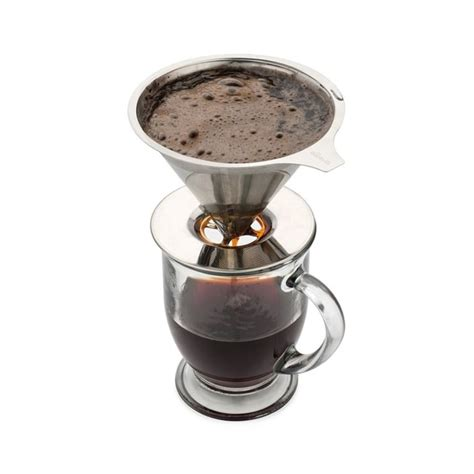 Coffee strainer makes great coffee, ideal for cuban or espresso coffee sturdy metal ring Metal Coffee Filters V Shape Filter Cup Strainer Tea Leaf Cone Filter Drip Coffee Maker Tool ...