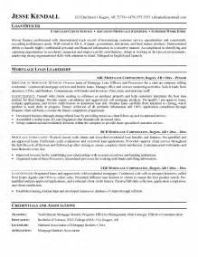 resume for a business loan loan officer resume