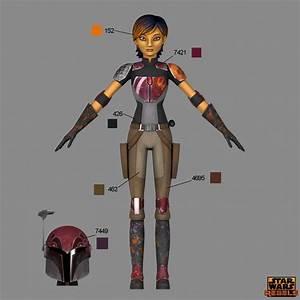 Star Wars Rebels Pantone Sabine Wren | The Wookiee Gunner