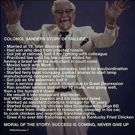 colonel sanders success story small business