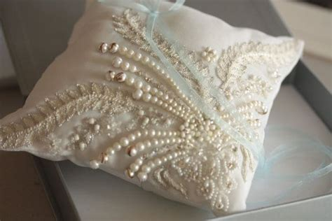 ring bearer pillow unique beaded ring pillow product code ronce pillow bridal ring pillow