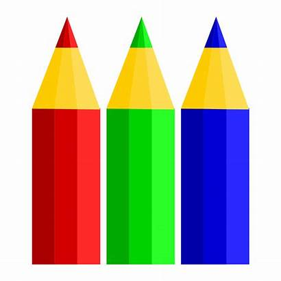 Pencil Pencils Clipart Colored Crayon Cartoon Drawing