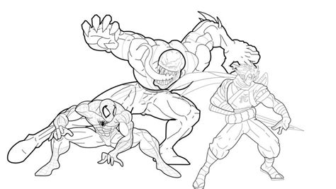 printable venom coloring pages  kids
