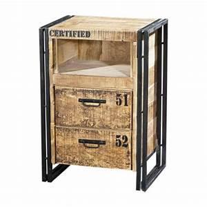 Beistelltisch 80 Cm Hoch : beistelltisch schubladen kommode aus massivholz 80 cm hoch ~ Frokenaadalensverden.com Haus und Dekorationen