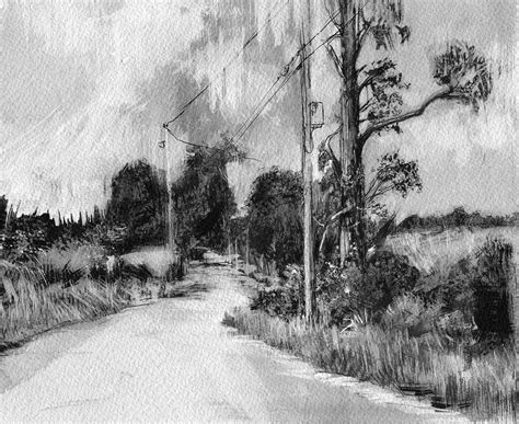 drawing pictures of landscape landscape drawings on behance
