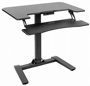 Vivo Black Electric Height Adjustable Two Platform