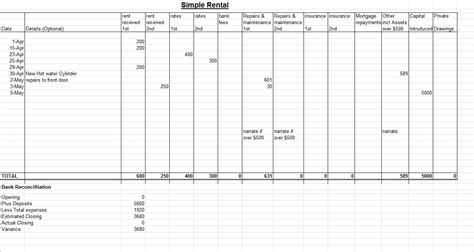 Bookkeeping Resume Exle by Simple Bookkeeping Spreadsheet Template Excel 2018