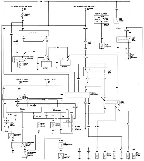 Cadillac Deville Fleetwood Diesel Engine Wiring