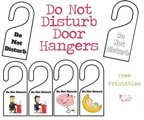 Free Do Not Disturb Door Hanger Template by Do Not Disturb Door Hanger Free Printable Fyi By Tina