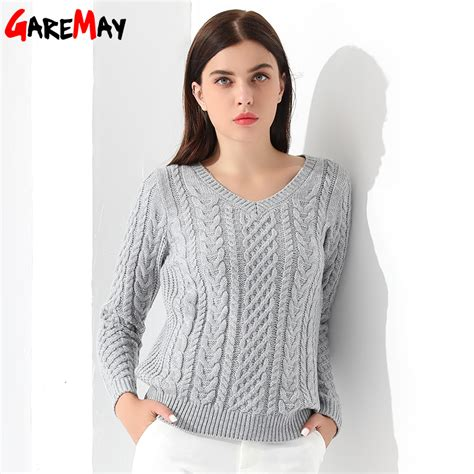 Women Sweaters And Pullovers Long Sleeve Knitted White