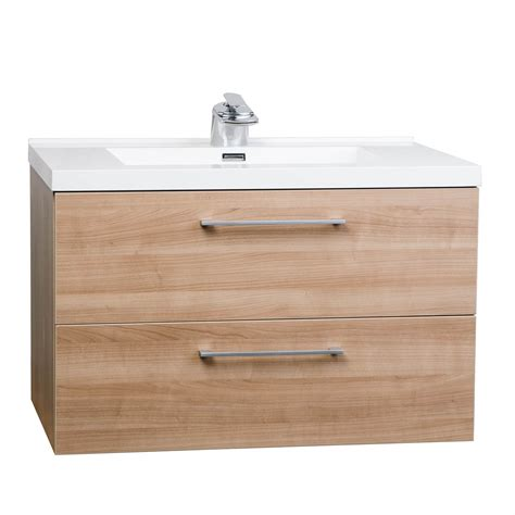 buy 33 5 quot wall mount contemporary bathroom vanity set light cherry tn ta860 lc conceptbaths com