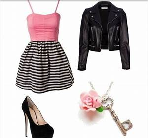 An edgy girly outfit | My Imaginary Closet | Pinterest | Teen fashion Jackets and So me