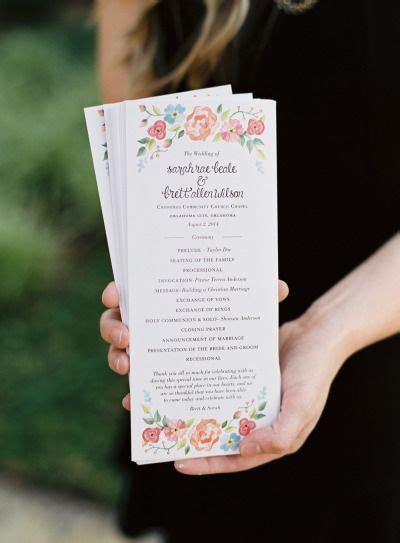 naturally elegant midwestern wedding wedding programs