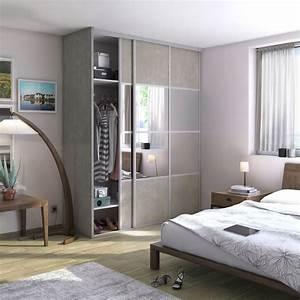 Dressing Avec Miroir : portes de placard blanc et miroir pour la chambre leroy ~ Teatrodelosmanantiales.com Idées de Décoration