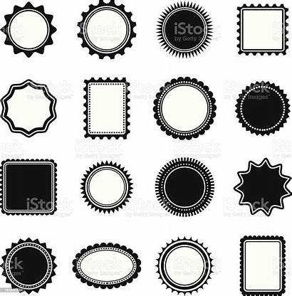 Frame Stamp Shapes Vector Shape Medal Award