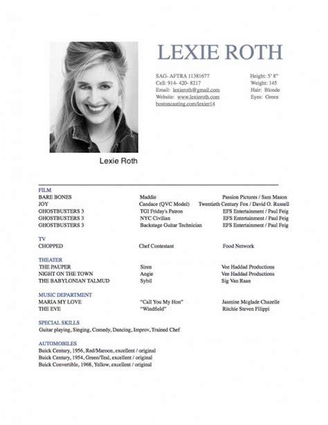Opera Singer Resume by Musician Resume Sle Sle Resumes