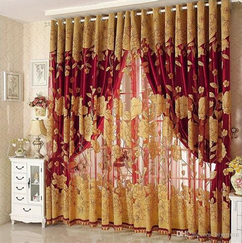 2017 new arrival curtains luxury beaded for living room