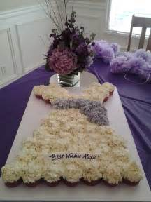 Tablet In Shower by Wedding Dress Cupcake Cake For A Wedding Shower Made With
