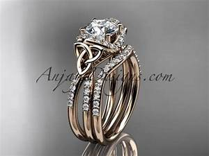 spring collection unique diamond engagement rings With celtic engagement and wedding ring sets