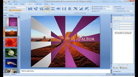 powerpoint training     picture slideshow