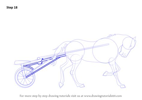 learn   draw racing horse cart  sports step